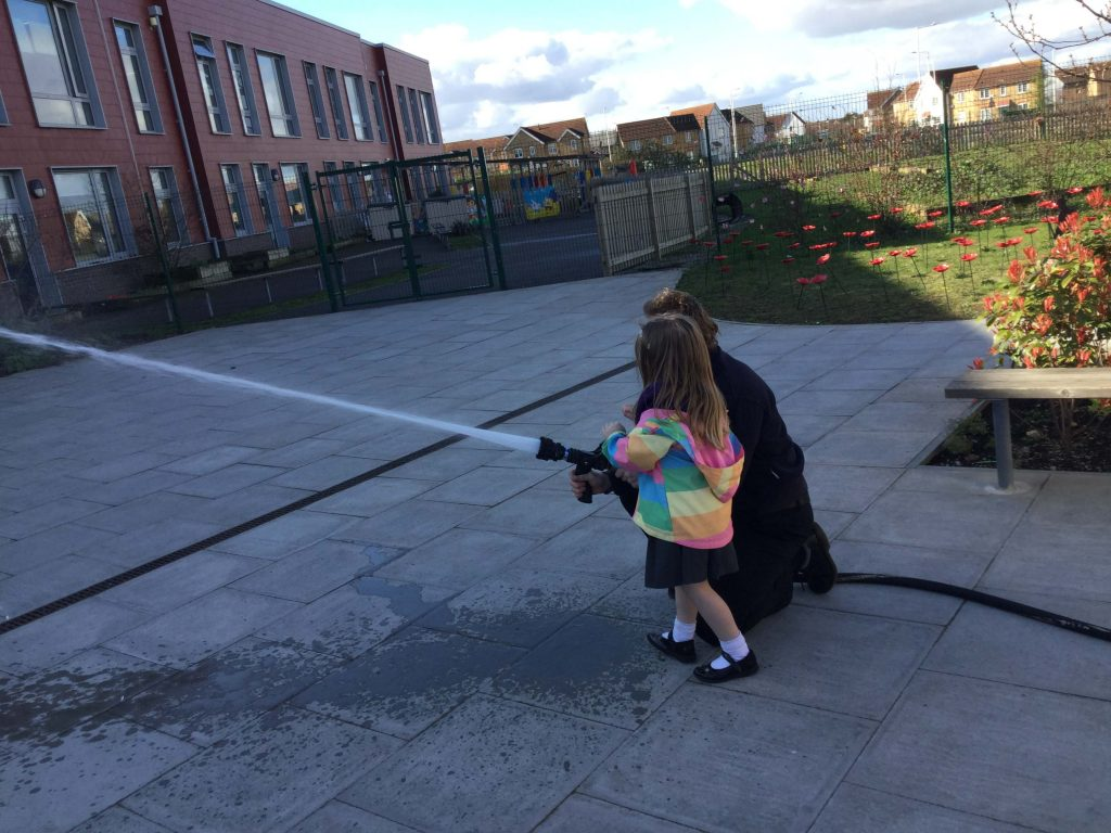 EYFS at Thistle Hill Academy had a visit from the Fire Service